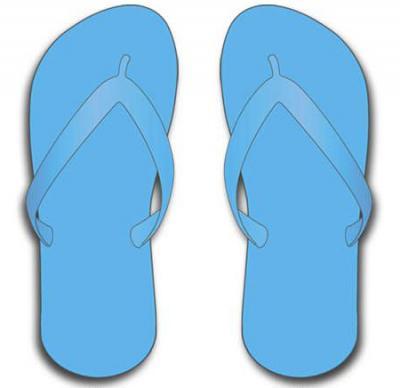 98688995a48ea Sky Blue Flip Flops -  7.00 - Simple Flip Flops - www ...